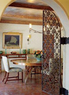 Rustic villa touch