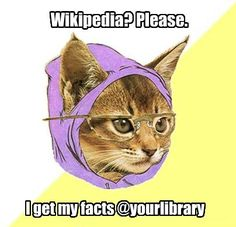 Hipster Kitty knew about National Library Week, like, months ago.