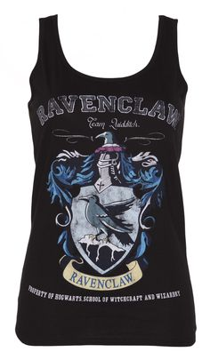 Ladies Black Harry Potter #Ravenclaw Team #Quidditch #Vest xoxo