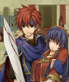 Idk if I pinned this yet, but it's my favorite fire emblem pic so far.  Just look at Roy and how much he cares about lilina