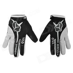 Yanho YAS366 Warm Full-Finger Fleece Gloves for Cycling - Black   Grey (Pair / L) Price: $10.83