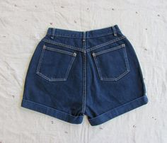 vintage c 1990s deep indigo high waisted denim by MouseTrapVintage, $38.00