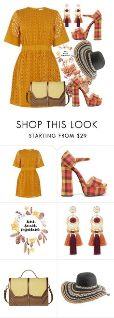 """""""Untitled #668"""" by pesanjsp ❤ liked on Polyvore featuring Warehouse, Prada, WALL, Rebecca Minkoff, Emeline Coates and Rip Curl"""