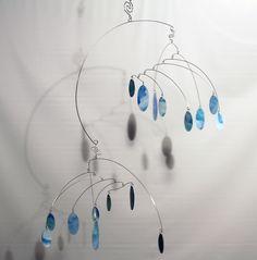 Drops Art Mobile Large  - Hanging Kinetic Sculpture - Calder Inspired - 99427235. $89.00, via Etsy.
