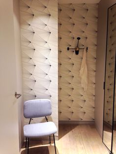 Erica Wakerly 'Fan' Black/White Wallpaper at Le Bon Marche, Paris, France.