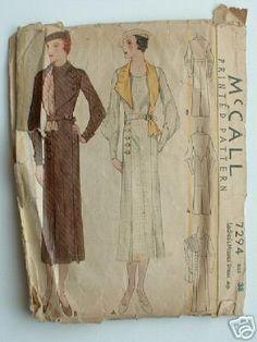McCall 7294 after Agnès Drecoll | ca. 1933 Ladies' & Misses' Dress