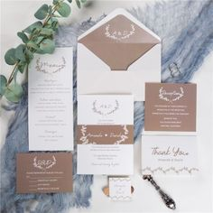 The romantic taupe invitation suite is a clean, classic design created for the minimalist couple who loves neutral colors. Monogram Wedding Invitations, Wedding Invitations Online, Invitation Suite, Invitation Cards, Taupe, Beige, Belly Bands, Neutral Colors, Unique Weddings