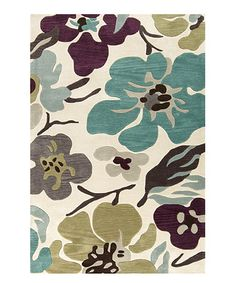 Love this Light Gray Floral Hand-Tufted Rug on #zulily! #zulilyfinds