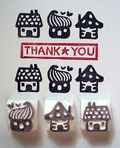 Three Tiny Houses No.1_detail by kirkus!, via Flickr. MADE FROM ERASERS