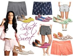 The Heathered Life: Fab Finds Friday: Short & Sweet #shorts #spring #fasion #style #flats #dorsayflats