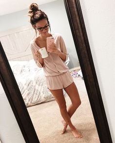 Lazy Day Outfits, Casual Outfits, Cute Outfits, School Outfits, Cute Pjs, Cute Pajamas, Comfy Pajamas, Summer Pajamas, Womens Fashion Online