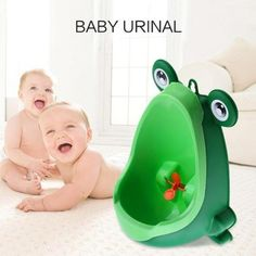 Cute Frog Shape Wall-Mounted Urinal Toilet For Baby Boys 0e34b7ed3948