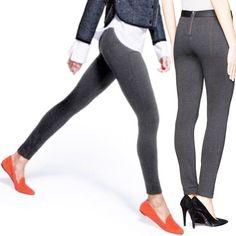 e3aaf5635993dc JCREW Pixie Pants Charcoal Grey Ponte Legging Stretch Back Zip Zipper Skinny  4 R #JCREW