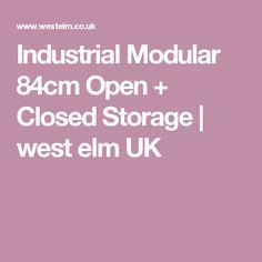 Industrial Modular 84cm Open + Closed Storage | west elm UK