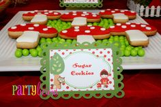 Cute Little Red Riding Hood cookies #party