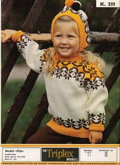 Bilderesultat for triplex garn oppskrifter Embroidery Patterns, Knitting Patterns, Norwegian Knitting, Knit Crochet, Crochet Hats, Fair Isle Pattern, Knitting For Kids, Vintage Knitting, Baby Design