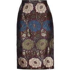 Etro Metallic jacquard pencil skirt (29.265 RUB) ❤ liked on Polyvore featuring skirts, multi, multicolor skirt, multi color skirt, colorful skirts, jacquard skirt and metallic pencil skirts