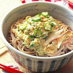 オクラとろろそば | 中島有香さんのそばの料理レシピ | プロの簡単料理レシピはレタスクラブネット