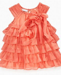 Baby Girl Ruffle Dress- Love this color,