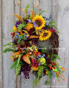 Grand Tuscany Harvest Wreath ~A New England Wreath Company Designer Original~