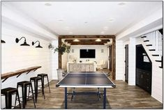 Discover Amazing Mancave Ideas Source by The post Convert Your Garage into a Man Cave & Man Cave Home Bar appeared first on Whitney DIY Design. Small Basement Remodel, Basement House, Basement Bedrooms, Basement Stairs, Basement Renovations, Home Remodeling, Basement Bathroom, Rustic Basement, Modern Basement