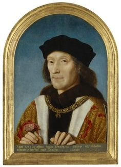 This is the most famous portrait of the first Tudor king, Henry VII. Charles Viii, King Henry Viii, Famous Portraits, Old Portraits, Richard Iii, Tudor History, British History, Uk History, Family History