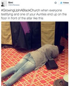 The person who always gets a special touch from the Lord. | 23 Things Anyone Who's Ever Been To A Black Church Will Immediately Recognize