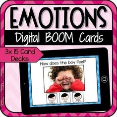This listing includes 3 digital Boom Card™ decks for teaching students to recognise feelings and emotions. Each deck features 15 cards, each with a clear real life emotion photograph (45 cards in total). The three decks are at different levels of difficulty allowing you to assign a deck based on ... Teaching Emotions, Emotions Activities, Feelings And Emotions, Decking Base, Thing 1, School Closures, Progress Report, Diy Deck, Learning Resources