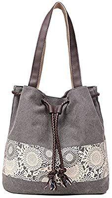 ceca680fb ELEOPTION - Bolso de hombro de lona de estilo vintage: Amazon.es: Jardín