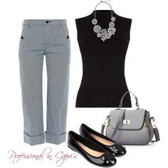 Professional in Capri's by billi29 on Polyvore featuring Oasis, The Seafarer and Accessorize