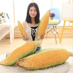 Cushion Home & Garden Creative Kawaii Fruits Vegetables Plush Toy 3d Pillow Potato Cabbage Broccoli Office Sofa Cushion
