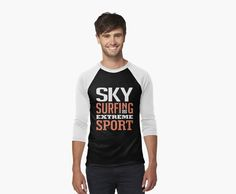 Sky Surfing Extreme Sport Black by cidolopez