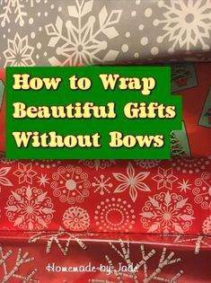 How to Wrap Beautiful Gifts Without Bows Why would you want to wrap gifts without bows? There are lots of reasons! Come and find out how to do it and why you should! Christmas Bows, Christmas Gift Wrapping, Christmas Crafts, Crafts To Make, Fun Crafts, Halloween Decorations, Christmas Decorations, Orange Kittens, Bird Cakes