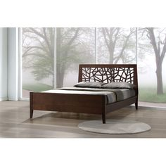 Wholesale Interiors Baxton Studio Bed Frame Wayfair $972 Cool tree design headboard, but only 2 reviews, 1 negative