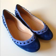 Blue Studded Belle Flats Blue Studded Belle Sigerson Morrison Flats that I bought from Nordstrom a couple years ago. Still in really good condition and comfy. No trades Belle by Sigerson Morrison Shoes Flats & Loafers