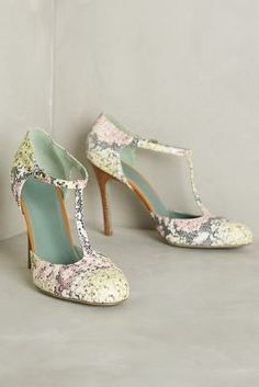 Anthropologie Mosaico Rosa Heels #anthroregistry