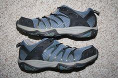 Wolverine running shoes blue black gray ten 1/2 10.5 Mens Choice 44.5 European #Wolverine #RunningCrossTraining