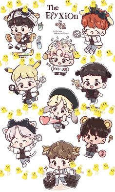 Find images and videos about cute, exo and baekhyun on We Heart It - the app to get lost in what you love. Exo Kokobop, Kpop Exo, Baekhyun, Exo 12, Exo Cartoon, Cartoon Fan, Bear Wallpaper, Cute Wallpaper Backgrounds, Kpop Drawings