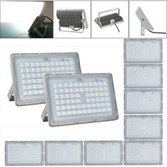 10X 200W Cool White LED Flood Light Outdoor Security Lamp Engineering Lighting