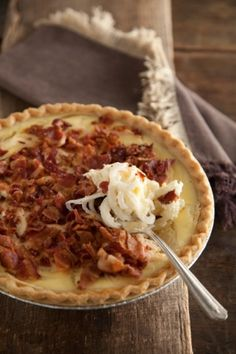 The Deen Bros. Lighter Vidalia Onion Pie. Vidalia onions are sweet and sassy.