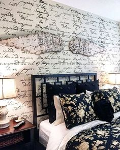 French Poem Wall Stencil   Hand Written Letters   Typography Stencil For  Walls