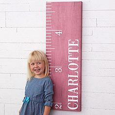 This Personalized Ruler Growth Chart Canvas Print is adorable! You can choose a teal, pink or natural wood color background and personalize it with any name! Then use a marker to chart how much they're growing! Cute baby gift idea! Cute Baby Gifts, New Baby Gifts, Gifts For Boys, Baby Presents, Personalised Canvas, Personalized Baby Gifts, Baby Shower Gift Basket, Baby Shower Gifts, Growth Chart Ruler
