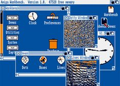 The Amiga Workbench UI. This was quite a step forward in 1985.
