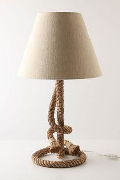 Rope lamp. Anthropologie @Nathalie ... I think this looks like you