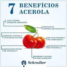 os 7 beneficios da Acerola
