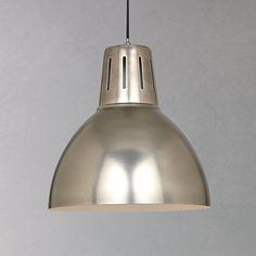 Buy John Lewis Hampton Pendant, Silver Online at johnlewis.com