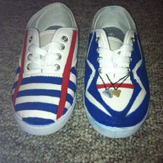 One Direction shoes. They really are cute.need some more designs made