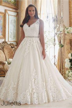 julietta mori lee 3208 v neck straps wedding dress