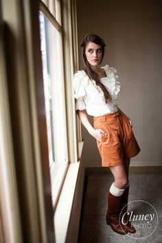 Vintage Rust High Waisted Shorts by samanthabalk on Etsy, $36.00
