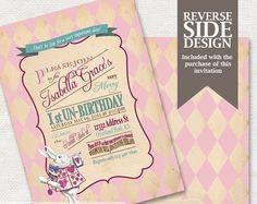 Alice in Wonderland Invitation / Mad Hatter Tea Party - Printable Birthday or Wedding /  Baby Shower Invitation - Pink